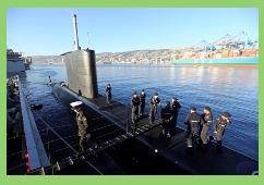 "El Ministro de Defensa de Chile recibió al submarino SS-20 ""Thomson"""