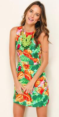 vestidos curtos verão 2014 estampa fruta Farm
