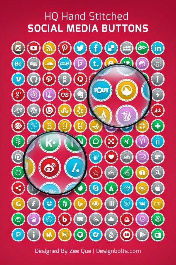 130 Social Media Buttons