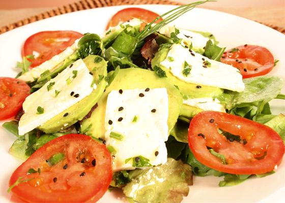 Ensalada con queso receta vegetariana recetas de cocina - Comida vegetariana facil de preparar ...