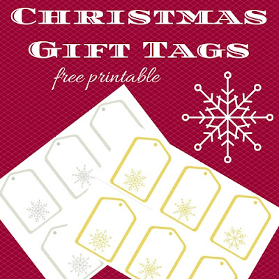 Christmas gift tags, free printable