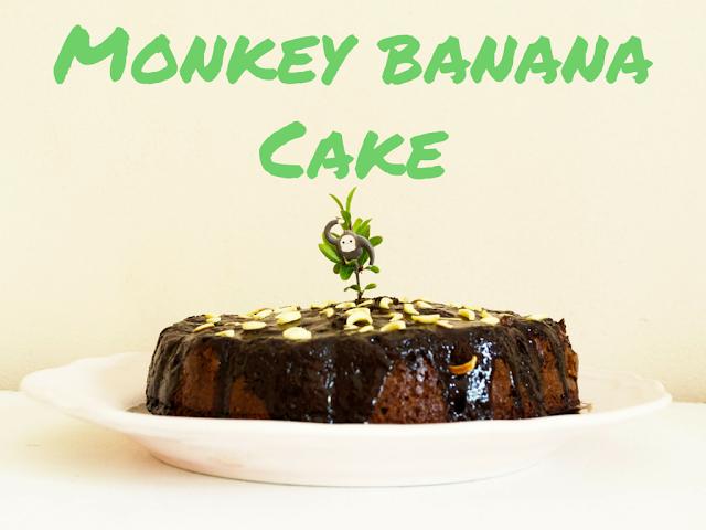 pigs-and-roses-monkey-banana-cake-chocolat-bizcocho-mono-platano-chocolate