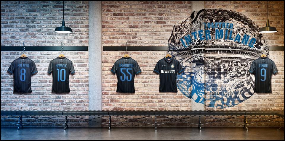 Kaos Bola Inter Milan 2014 - 2015 Nike Home Kit