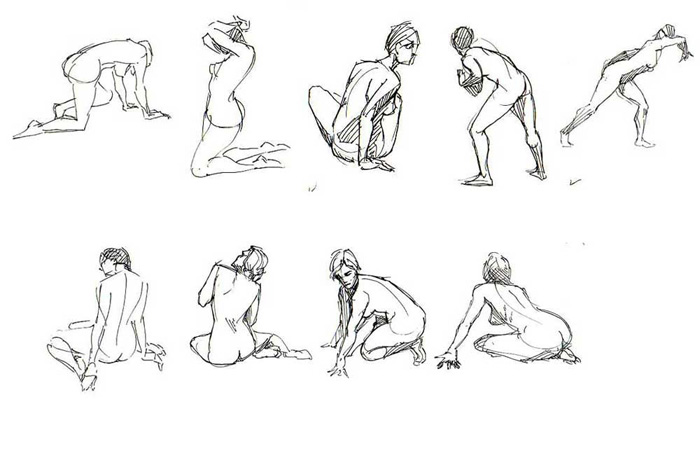 Contour Line Drawing Pdf : Basic drawing examples of gesture from the web