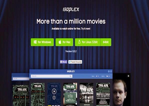 برنامج Isoplex  لمشاهدة أكثر من مليون فيلم مجاناً