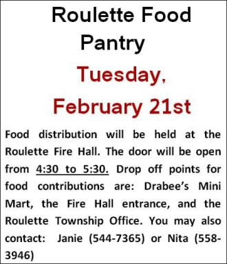2-21 Roulette Food Pantry