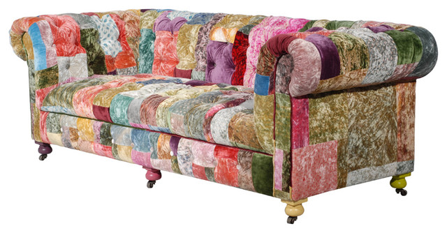 Modern Sofa Colourful Printed Fabric Sofa Designs An