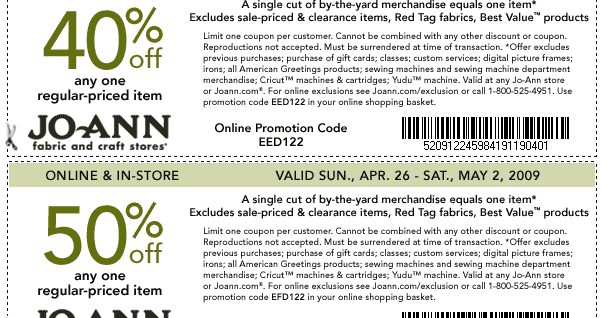 Get Coupons For You: The Joann\'s Fabrics Coupons