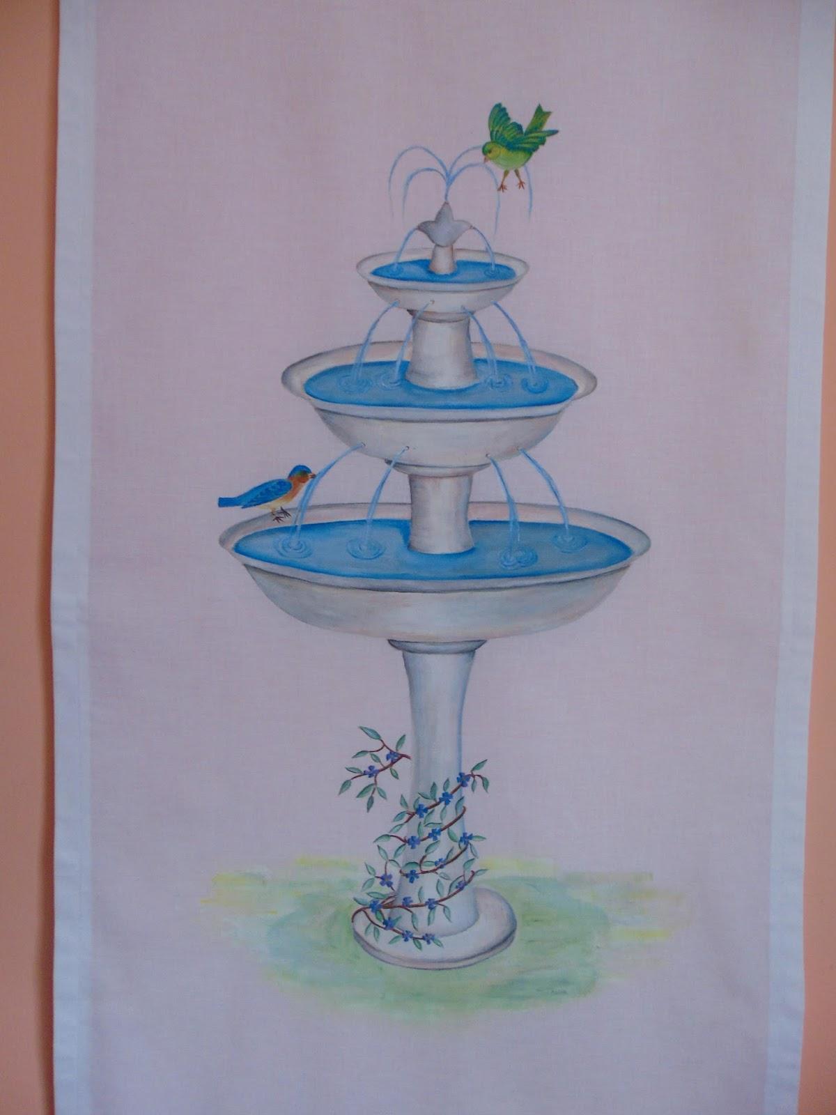Idee in atelier di liz tenda con fontanella e glicine for Glicine disegno