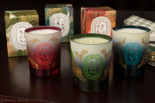 Diptyque Résine Resin Pine, Hiver Winter and Épice Spice Candles Holiday 2014 Collection