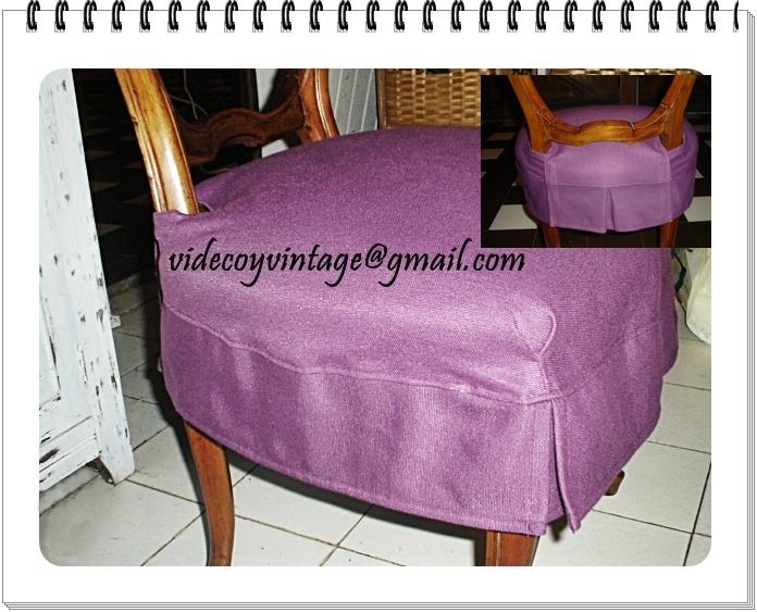 Videcoyvintage deco octubre 2011 - Faldones para sillas ...