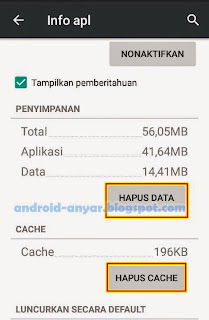 Hapus data BBM Android