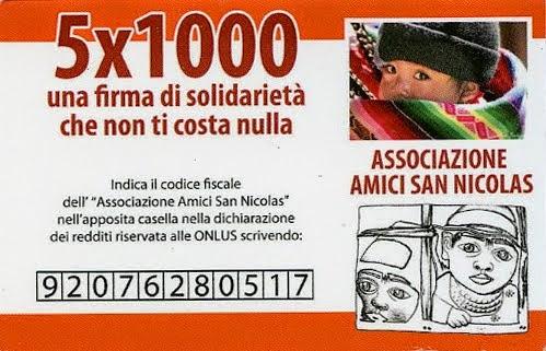 5 x 1000 Associazione Amici San Nicolas