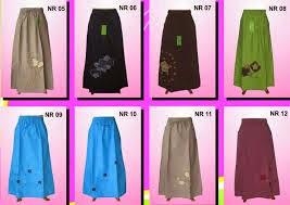 berbagai model rok muslimah