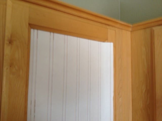 Weathered or not kitchen cabinet makeover tutorial - Wallpaper on kitchen cabinet doors ...