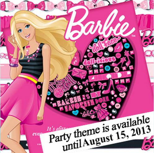 Barbie theme for Jollibee party