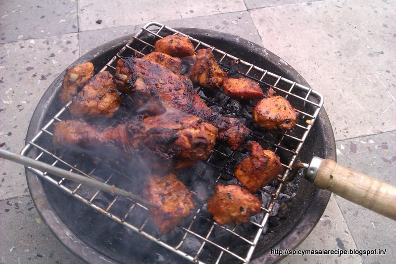 Indian style barbeque chicken spicy masala recipes indian style barbeque chicken forumfinder Image collections