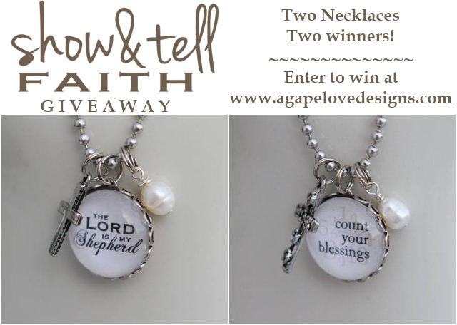 agape designs show and tell faith jewelry giveaway
