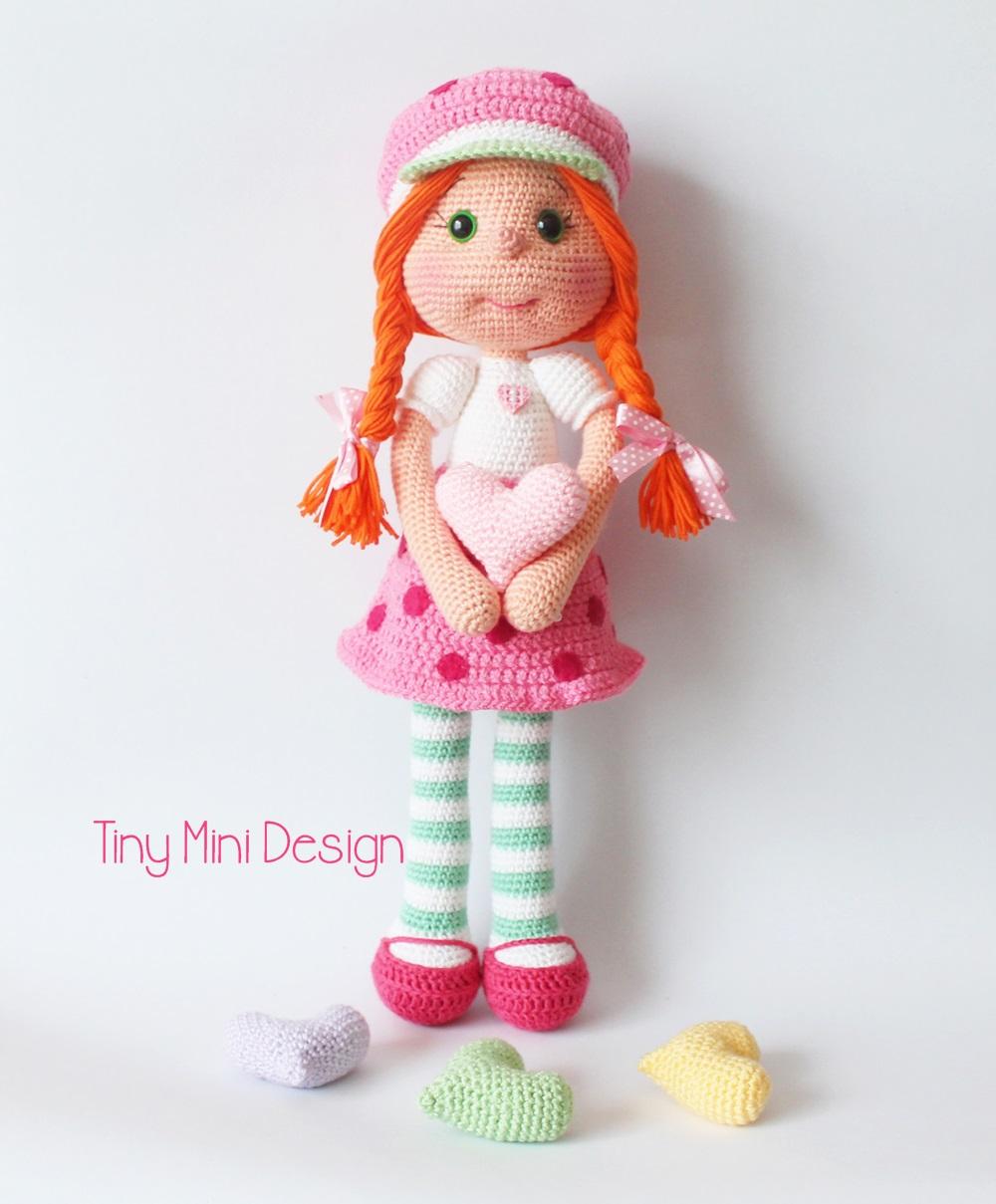 Amigurumi Bebek Tarifi : �ilek k z kost�ml� bebek amigurumi strawberry girl costume