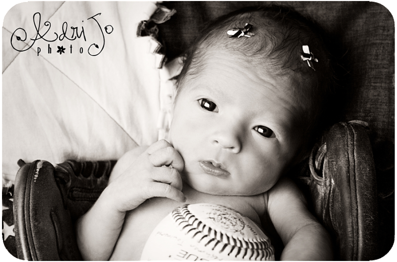 Happy July {Baby in a Baseball Glove} Boise Idaho Photographer