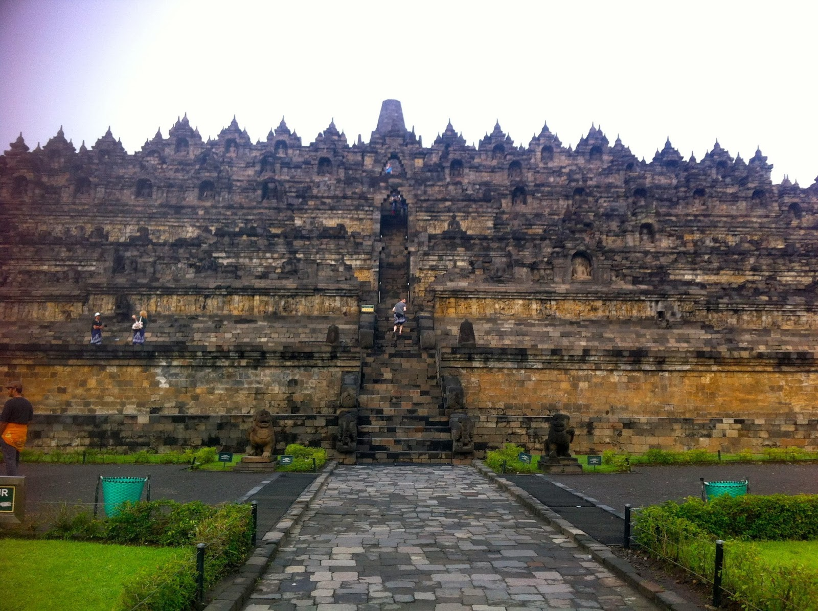 Borodubur Buddhist temple in Java, Indonesia