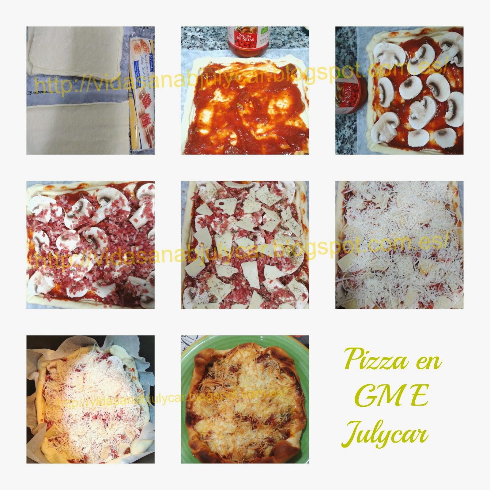 La mycook de julycar pizza de champi ones y jam n - Pizza mycook ...