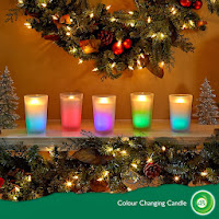 Air Wick Colour changing candles with greenery