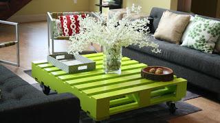 mesa de centro de palete