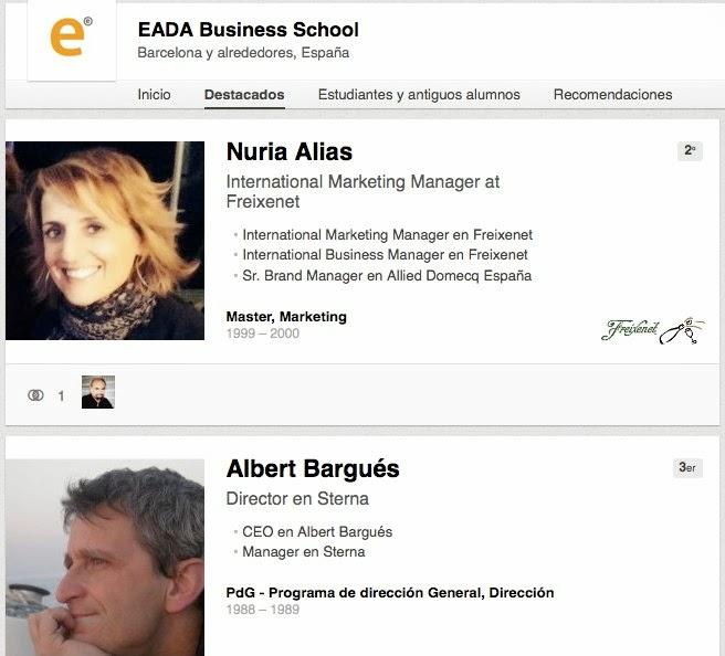 Página de universidad de EADA