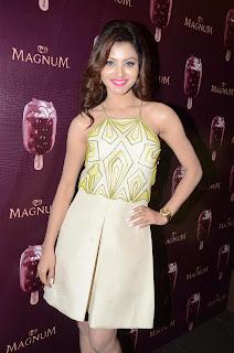 Actress Urvashi Rautela Pictures in Short Dress at Magnum Ice Cream Flavour Launch  11.JPG