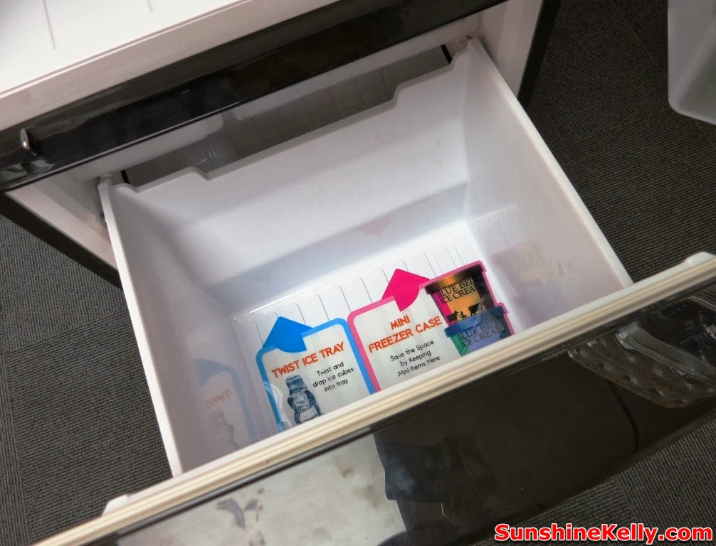 sharp, sharp Dual Swing Door Refrigerator, Plasmacluster, fridge, dual swing door fridge, household product, fridge drawer