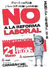 Manifestación en Carabanchel, 21 marzo