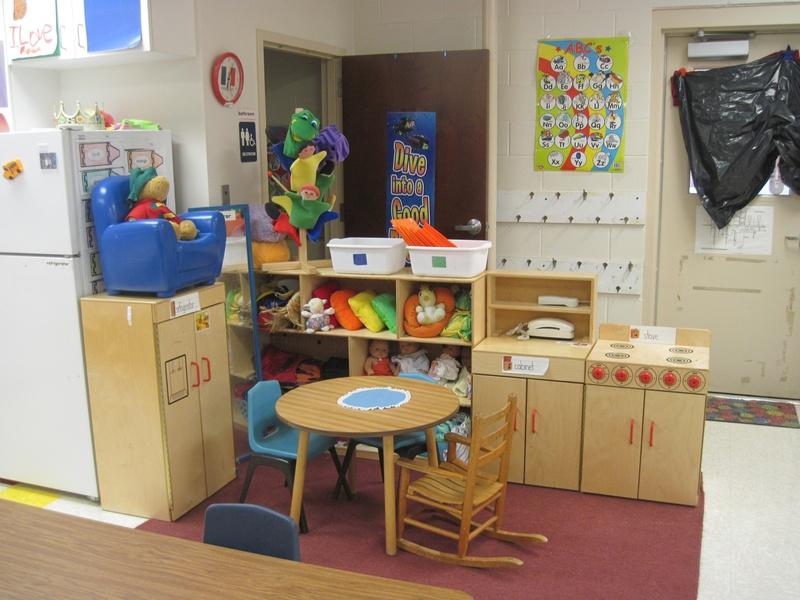 Classroom Kitchen Ideas ~ Cozy kindergarten classroom set up