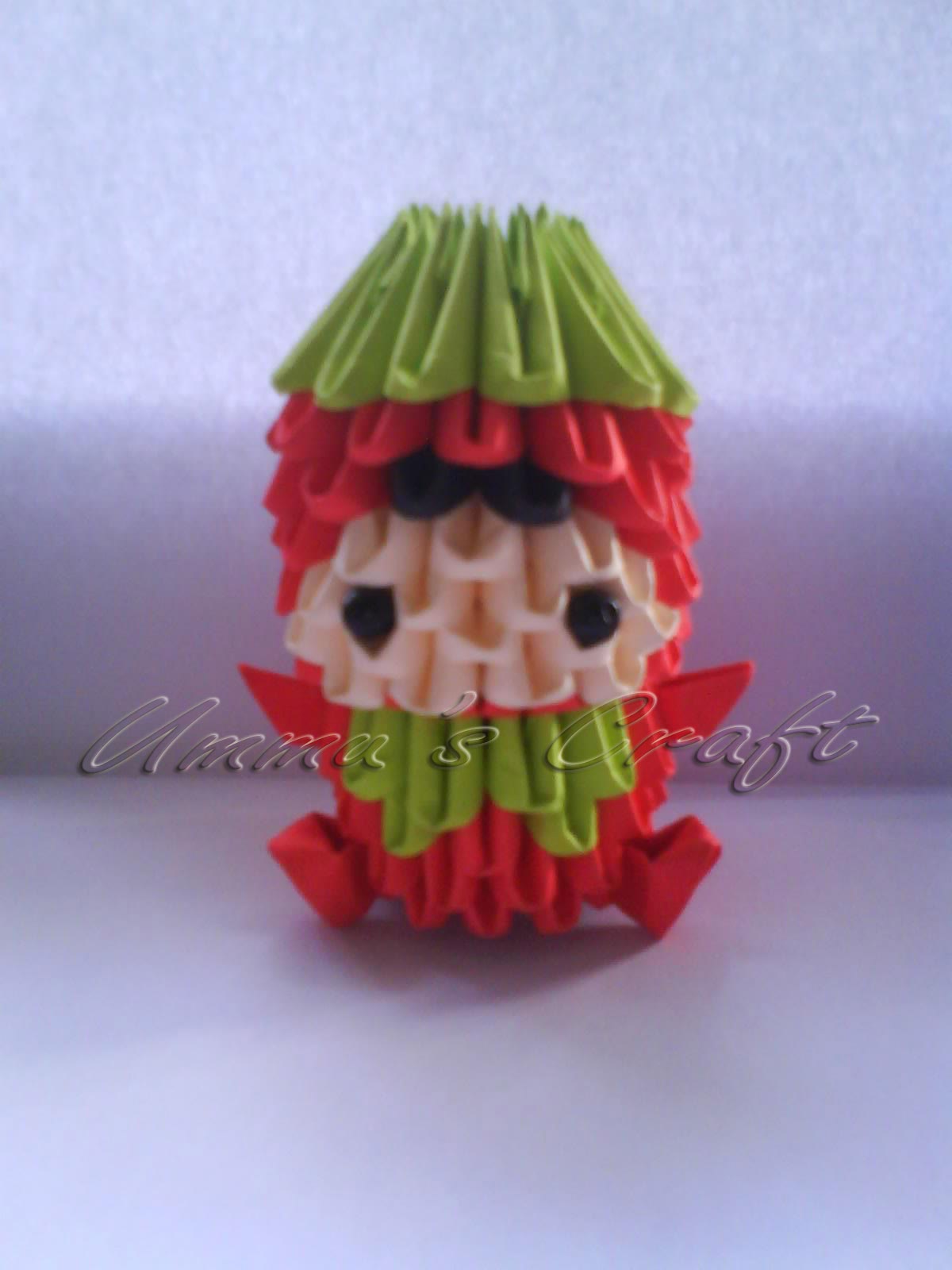 Strawberry Girl Origami 3D