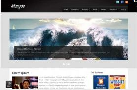 Mangos free Blogger template