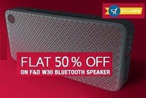 Flat 50% Off on F&D W30 Mobile Speaker worth Rs.3990 for Rs.1999 Only @ Flipkart