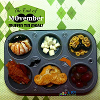 MOvember mustache muffin tin meal!