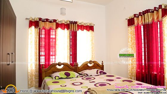 Bedroom curtain work in Kerala