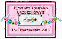 http://craftmaniapl.blogspot.com/2013/10/urodzinowe-wyzwanie-teczowy-konkurs.html