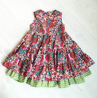 dress, flowers, green, pink, twirl