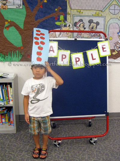 Johnny Appleseed Day Craft for kids