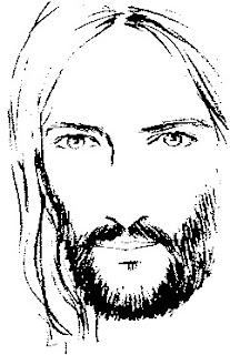 Jesús dibujo para colorear