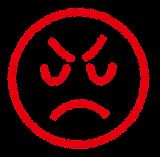 表情のマーク「怒り」