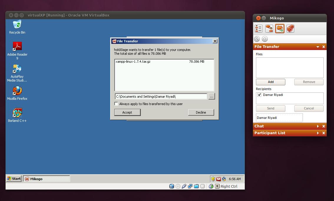 Berbagi file antara komputer Windows dan Ubuntu