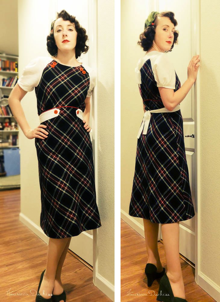 V342 1930s Christmas Dress Decades Of Style 3007