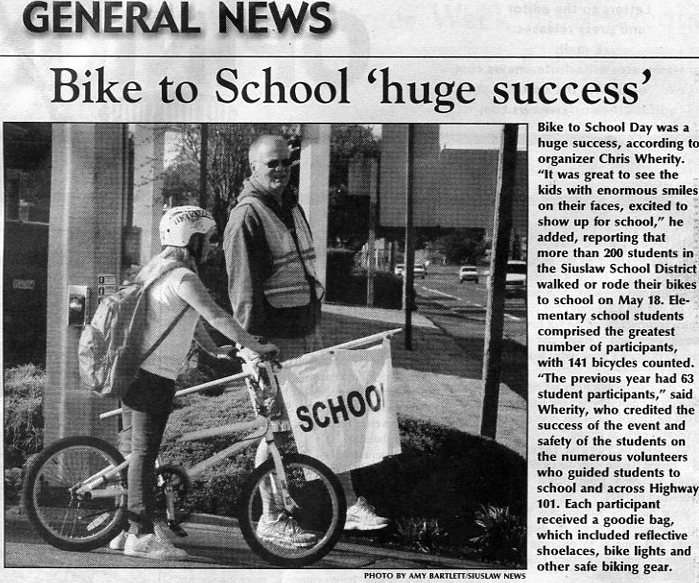 Bikes 101 Florence Oregon Bike to School in Florence
