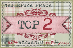 WYRÓŻNIENIE ZA UDZIAŁ W WYZWANIU #24 NA BLOGU Craft4You