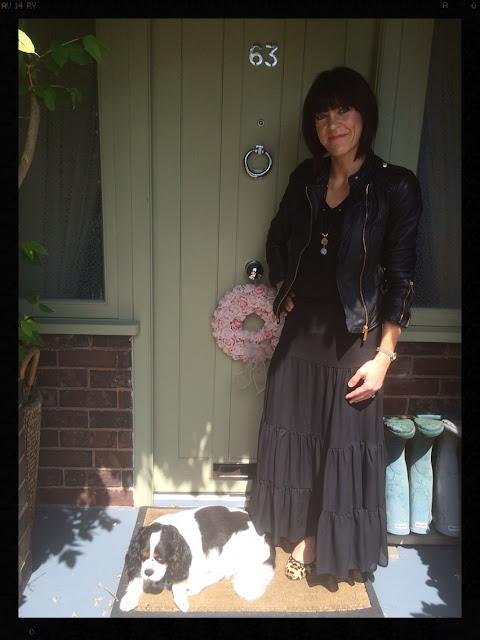 My Midlife Fashion, Biker Jacket, Maxi Skirt,  Ballet Pumps, Leopard Print, Animal Print, Mint Velvet, Zara