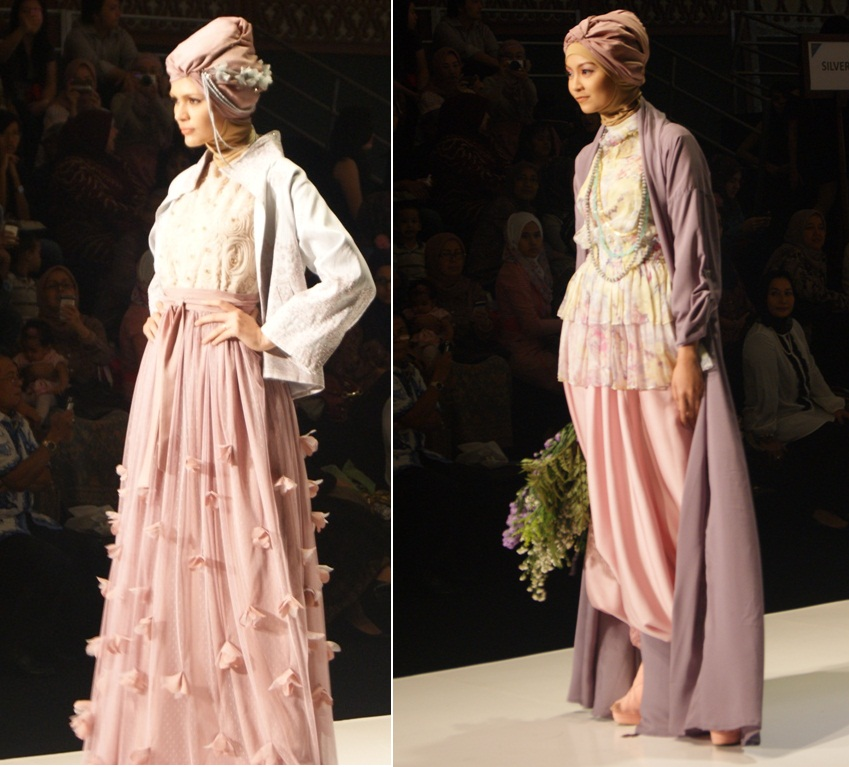 Baju Muslimah Dengan Sentuhan Warna Lembut Tetep Cantik