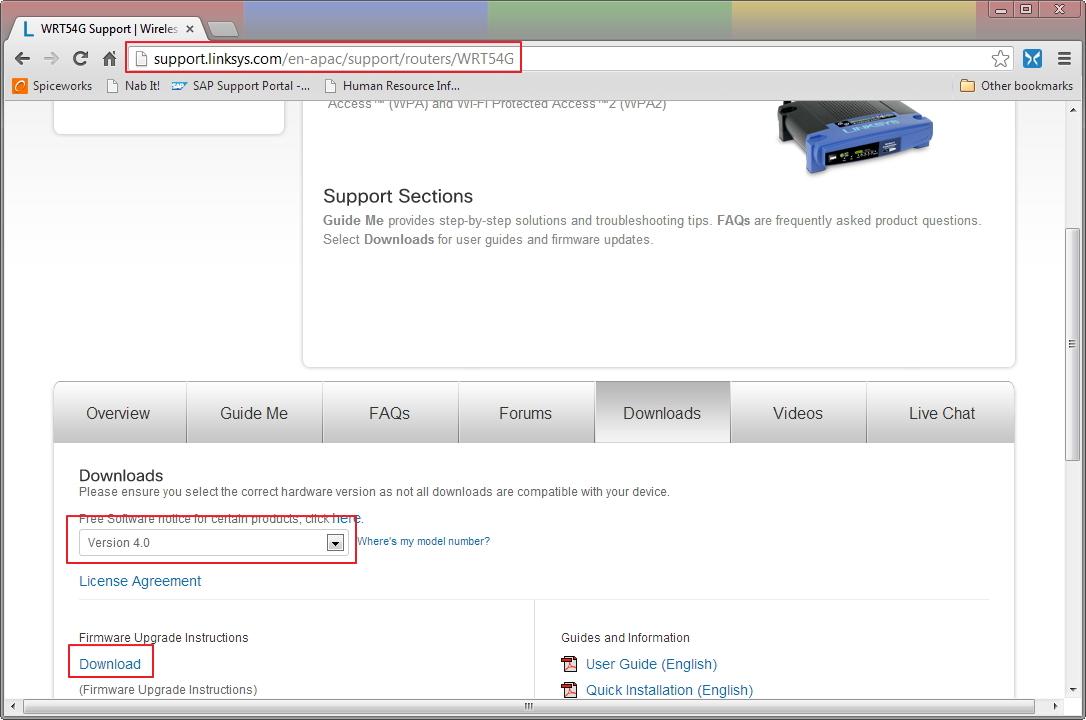 Linksys WRT54G Firmware Upgrade Download